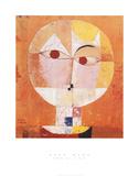 Head of Man, Going Senile, c.1922 Schilderijen van Paul Klee