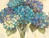 Turquoise Hydrangea Poster by Albena Hristova