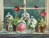 Purple Poppies Windowsill Kunstdrucke von Danhui Nai