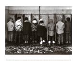 Pinkelnde Jungs Kunstdruck von Robert Doisneau