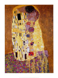 Kysset, ca.1907 Poster af Gustav Klimt
