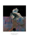 Tänzer auf violettem Boden Kunstdrucke von Robert Heindel