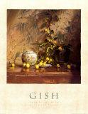 Crab Apples with Japanese Print Kunstdrucke von Del Gish