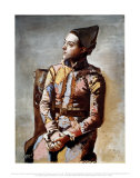 Sitzender Harlekin, 1923 Poster von Pablo Picasso