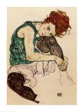 De vrouw van de kunstenaar Schilderij van Egon Schiele