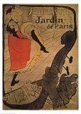 Jane Avril in Jardin de Paris Prints by Henri de Toulouse-Lautrec