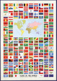 Vlaggen van de wereld Poster
