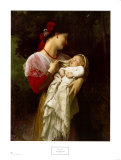 Mère et enfant Posters par William Adolphe Bouguereau