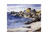 Surf Sand and Rocks Lámina por Henry Gasser