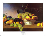 Stillleben mit Früchten Poster von James Peale