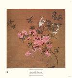 Kirschblüten mit Wildrosen Poster von Yun Shou-P'ing