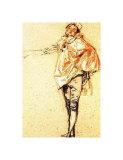 Man Standing Plakat af Jean Antoine Watteau