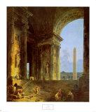 The Obelisk, 1787 Print by Hubert Robert
