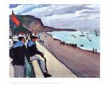 Beach of Fecamp Plakater av Pierre Albert Marquet