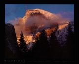ハーフ・ドーム, 冬の日没, ヨセミテ 高品質プリント : ウィリアム・ニール
