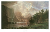 The Sierra Nevada in California Plakater af Albert Bierstadt