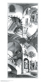 Haut et bas Affiches par M. C. Escher