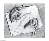 Drawing Hands Posters by M. C. Escher