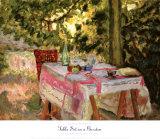 Table Set in a Garden Lámina por Pierre Bonnard