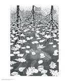 Drie werelden Posters van M. C. Escher