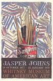Savarin Cans-Monotype Lámina coleccionable por Jasper Johns