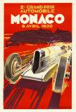 Monaco Grand Prix, 1930 Plakat av Robert Falcucci