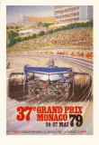 Monaco Grand Prix, 1979 Posters av Alain GIAMPAOLI