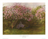 Resting Under the Lilacs Art by Claude Monet
