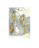 Bailarines de Cambodia Lámina por Auguste Rodin
