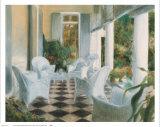 White Summer Terrace Pôsters por Piet Bekaert