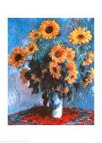 Sunflowers, c.1881 Plakat af Claude Monet