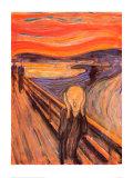 O Grito, cerca de 1893 Pôsteres por Edvard Munch