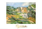 Houses At the Estaque Julisteet tekijänä Paul Cézanne