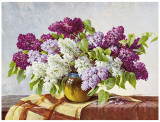 Lilac Prints by E. Kruger