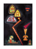 Grun, c.1929 Pôsters por Wassily Kandinsky