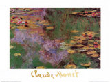 Water Lily Pond at Giverny Poster af Claude Monet