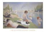 Baignade à Asnières Posters par Georges Seurat