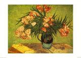 Vase with Oleanders and Books, c.1888 Poster af Vincent van Gogh