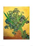 Vase of Irises Against a Yellow Background, c.1890 Poster av Vincent van Gogh