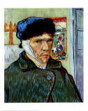Self-Portrait with Bandaged Ear, c.1889 Posters by Vincent van Gogh