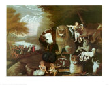 The Peaceable Kingdom, 1834 Plakater af Edward Hicks