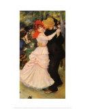 Bal à Bougival Affiches par Pierre-Auguste Renoir