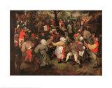 La noce Posters par Pieter Bruegel the Elder