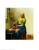 牛乳を注ぐ女 1658-1660年 ポスター : ヨハネス・フェルメール