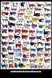 100 chats et une souris Affiches par  Vittorio