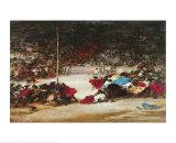 The Bullfight, c.1890/1900 Kunst von Eugenio Lucas Villamil