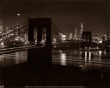 Pont de Brooklyn, New York Affiche par Andreas Feininger
