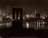 ブルックリン橋 高品質プリント : アンドレアス・ファイニンガー