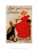 Lait Sterilise Plakater av Théophile Alexandre Steinlen