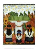 Flower Festival: Feast of Santa Anita, 1931 Art by Diego Rivera